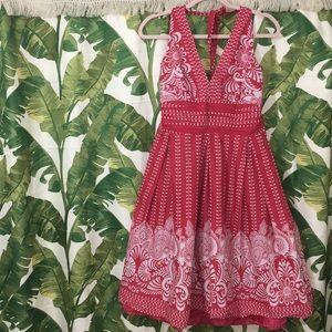 *THRIFT* Gorgeous dark pink halter dress